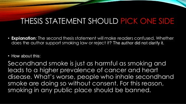 Smoking ban thesis statement