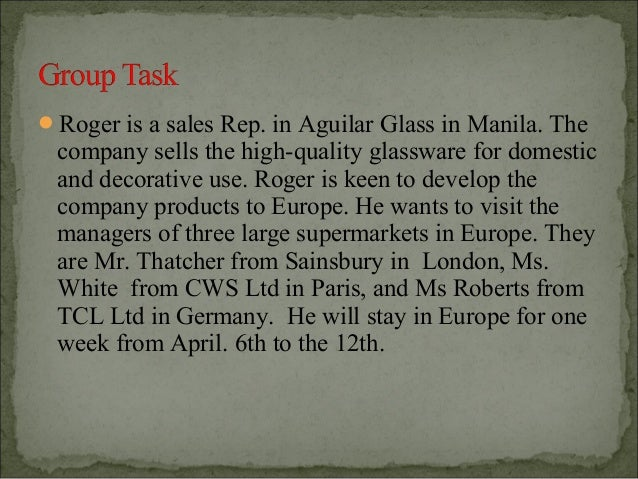 Roger is a sales Rep. in Aguilar Glass in Manila. The company sells the high-quality glassware for domestic and decorativ...