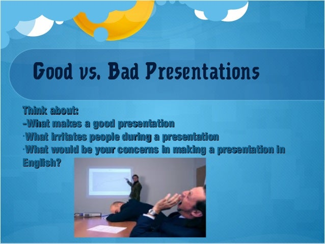 how to give a good presentation pdf