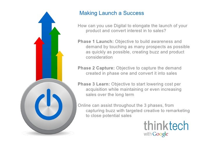 Making Launch a Success  How can you use Digital to elongate the launch of your    product and convert interest in to sale...
