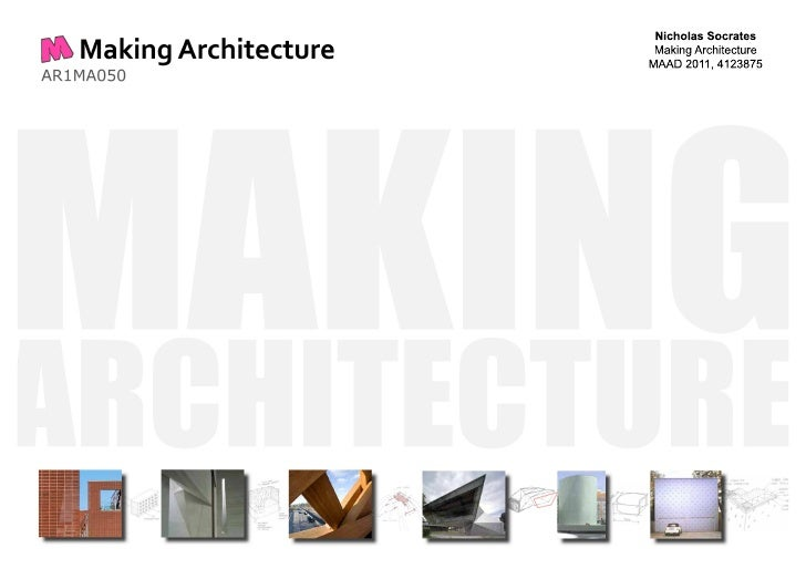 Architecture Building Material Study - Concrete, Masonry, Glass, Timber & Plastic