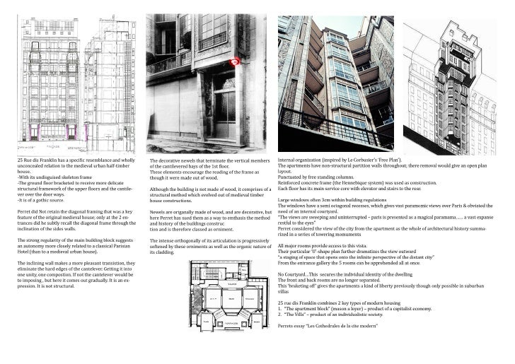 Rue Franklin Apartments - Auguste Perret - Study, Research & Analysis