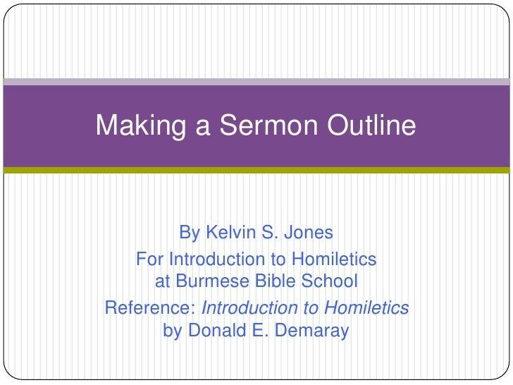 Making a sermon outline