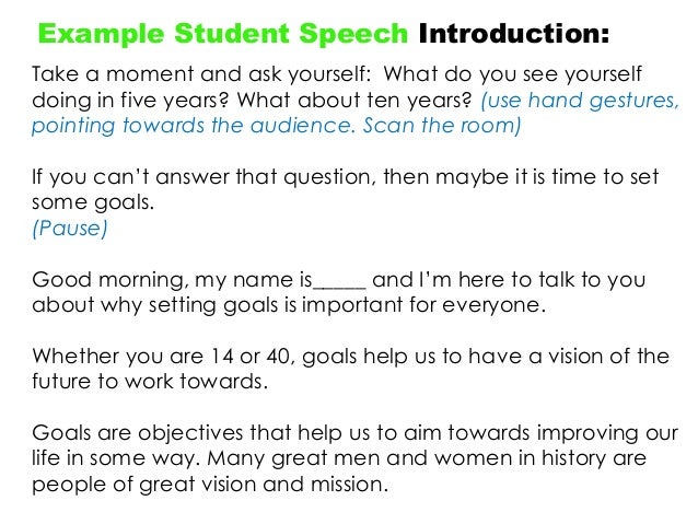 Making A Speech - Year 9