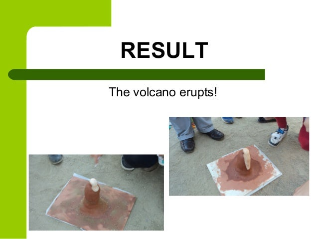 how to make a volcano procedure
