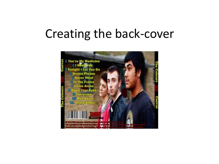Creating the back-cover