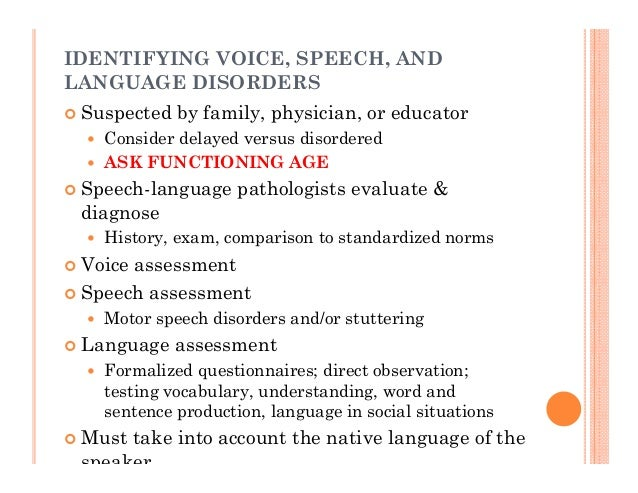 Language Delay Versus Language Disorder >> Making Best Use Of Speech Language Therapy When To Refer And What To