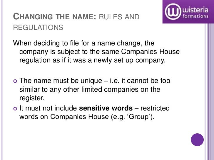 Companies house model rules