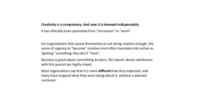 The Top Three Things Business Can Learn From Arts and Sports about Creativity Slide 2