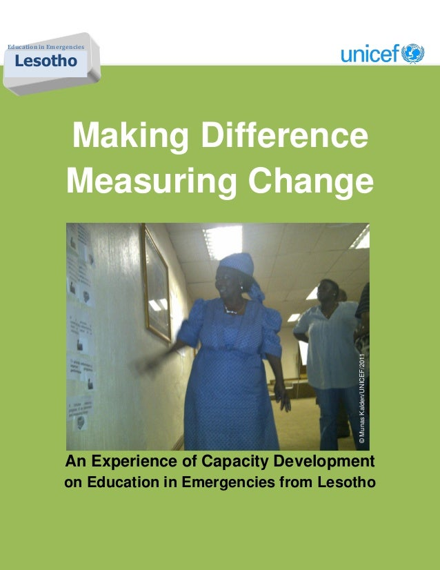 Education in Emergencies  Lesotho                  Making Difference                  Measuring Change                    ...