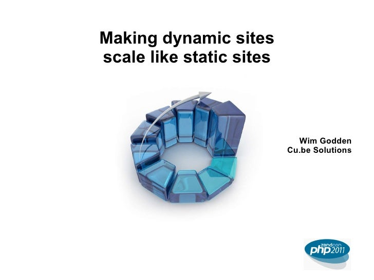 Making dynamic sites scale like static sites Wim Godden Cu.be Solutions