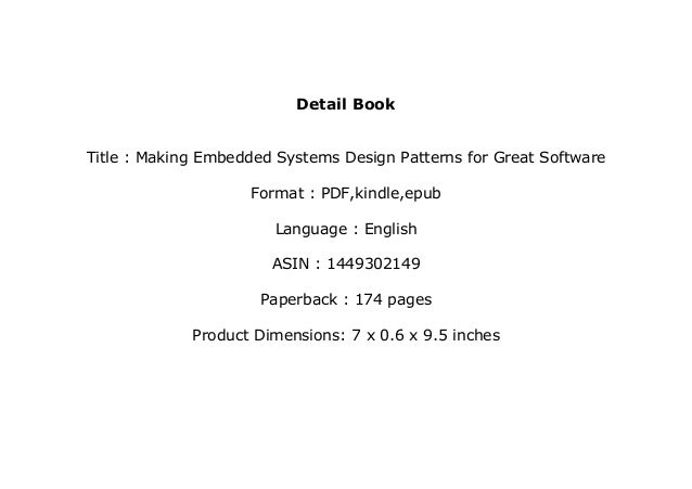 P D F Library Making Embedded Systems Design Patterns For Gre