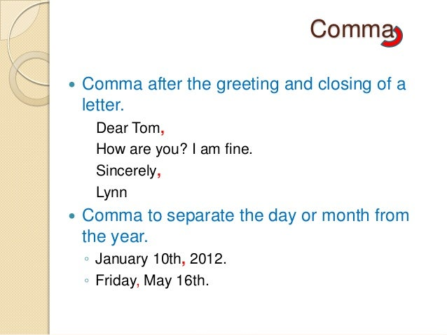 do you put a comma after a year