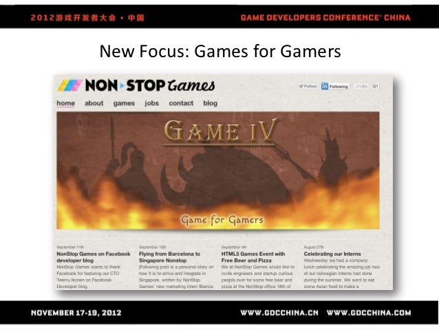 New Focus: Games for Gamers