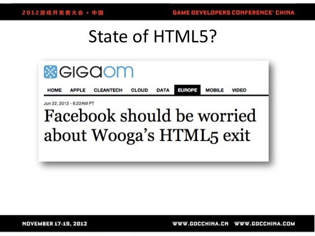 State of HTML5?