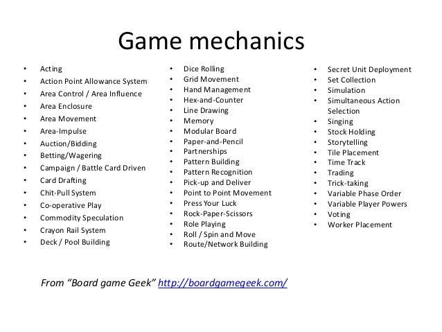 Game mechanics•   Acting                          •   Dice Rolling              •   Secret Unit Deployment•   Action Point...