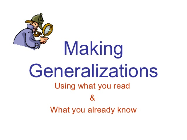 Generalization - Lessons - Tes Teach