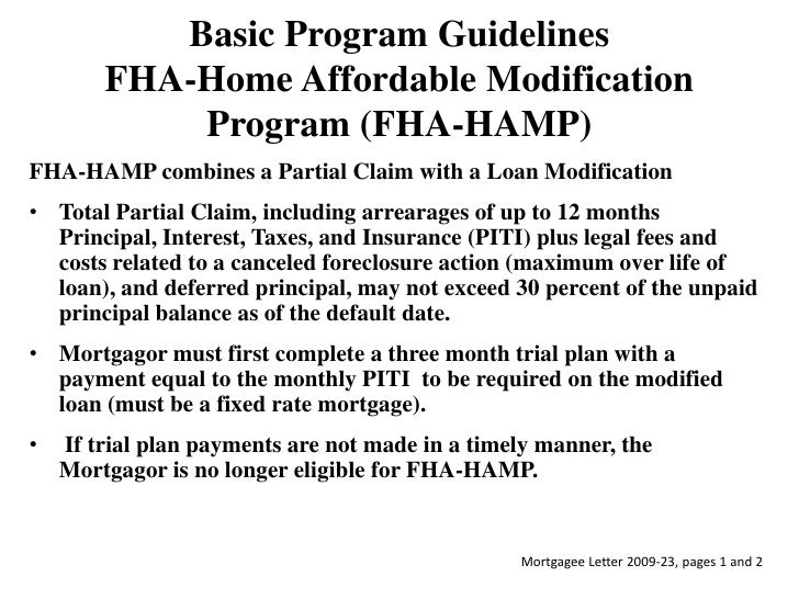 Fha home affordable modification program home review Home affordable modification program