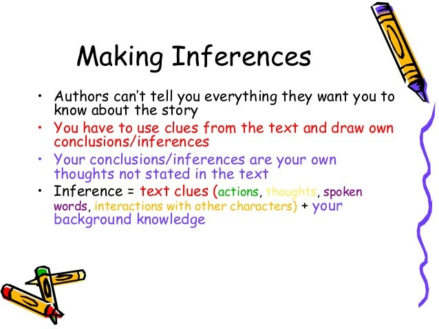 Making inferences ppt lesson