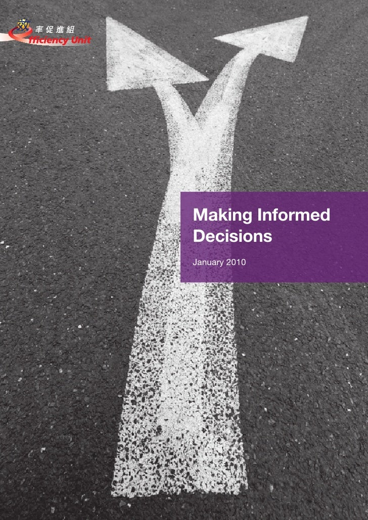 Making Informed Decisions January 2010