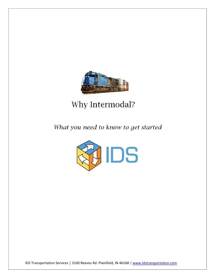 IDS Transportation Services   3100 Reeves Rd. Plainfield, IN 46168   www.idstransportation.com
