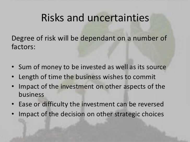making the investment decision Investment decision process 1 understanding of investment & investment decision process 2 some different approaches to investment decision making.