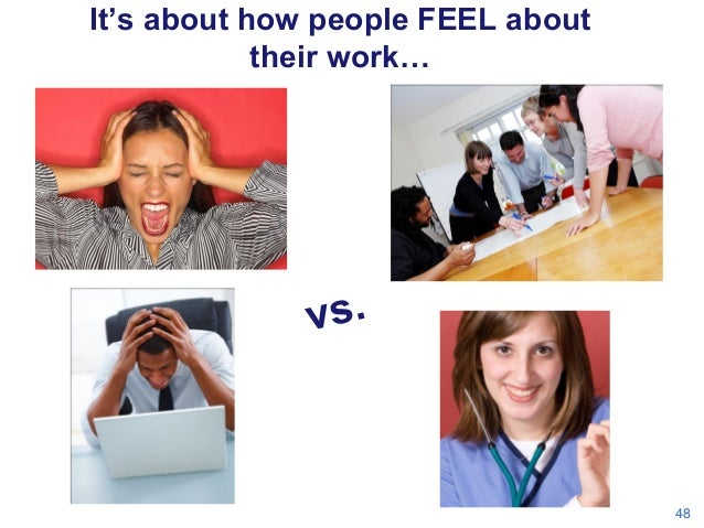 It's about how people FEEL about their work…  48