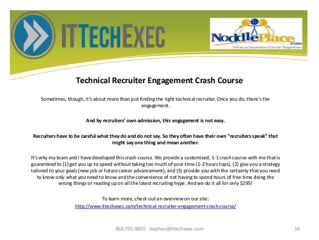 Technical Recruiter Engagement Crash Course Sometimes, though, it's about more than just finding the right technical recru...