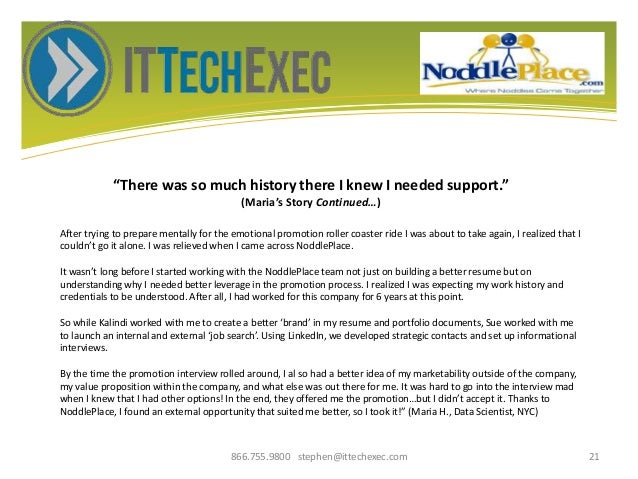 """""""There was so much history there I knew I needed support."""" (Maria's Story Continued…) 866.755.9800 stephen@ittechexec.com ..."""