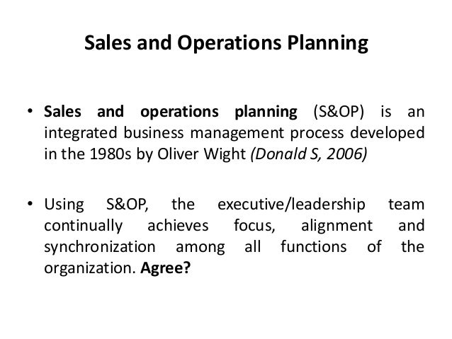 chapter 5 sales and operations planning review meetings