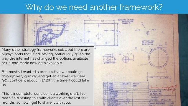 Why do we need another framework? Many other strategy frameworks exist, but there are always parts that I find lacking, pa...