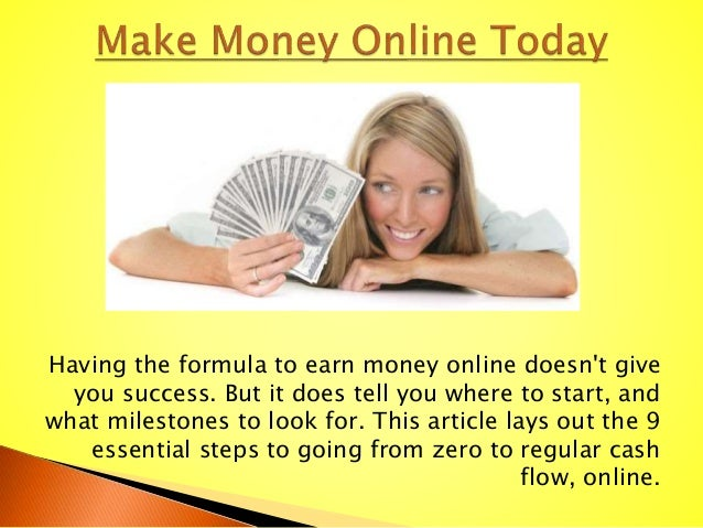 Having the formula to earn money online doesn't give you success. But it does tell you where to start, and what milestones...
