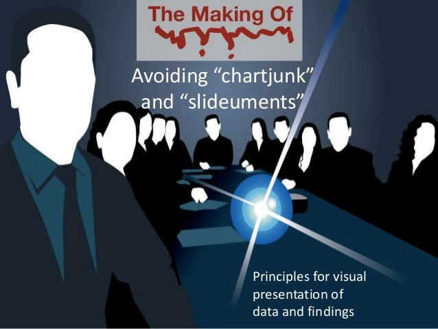 "Principles for visualpresentation ofdata and findingsAvoiding ""chartjunk""and ""slideuments"""