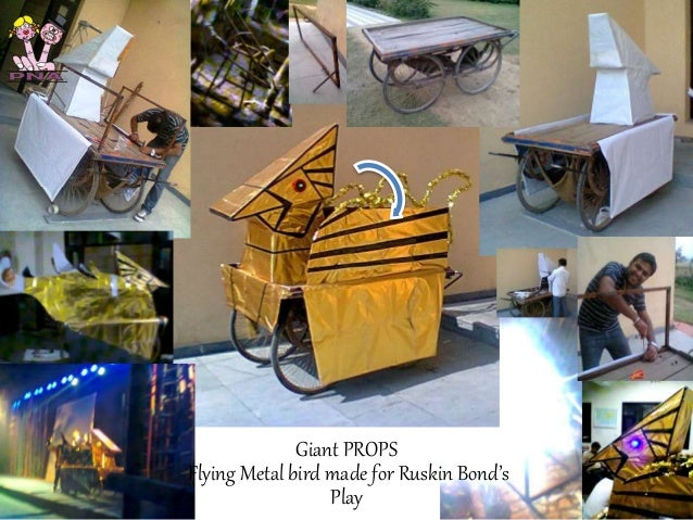 Making of giant bird puppet for Ruskin BOnd's Play at Mind