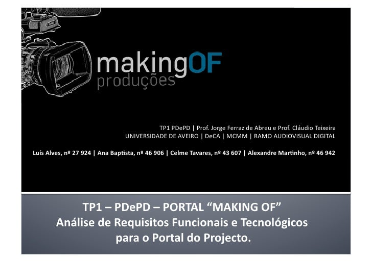 TP1PDePD Prof.JorgeFerrazdeAbreueProf.CláudioTeixeira                                UNIVERSIDADEDEAVEIRO ...