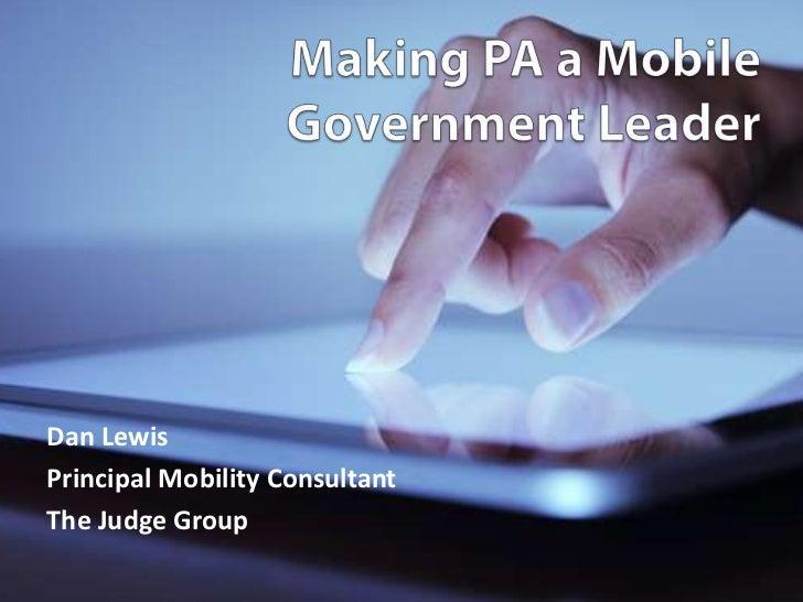 Dan LewisPrincipal Mobility ConsultantThe Judge Group