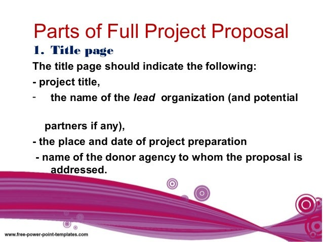 Making Project Proposal