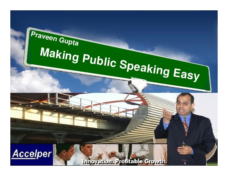 Praveen Gupta Making Public Speaking Easy
