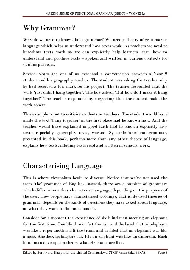 lexicogrammar essay Michael halliday halliday at his 90th-birthday symposium, 2015  lexicogrammar and semantics the expression plane also now consists of two levels:.