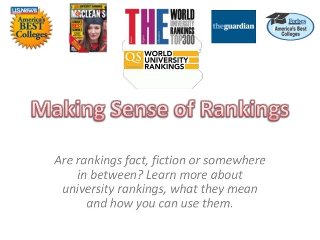Are rankings fact, fiction or somewhere in between? Learn more about university rankings, what they mean and how you can u...