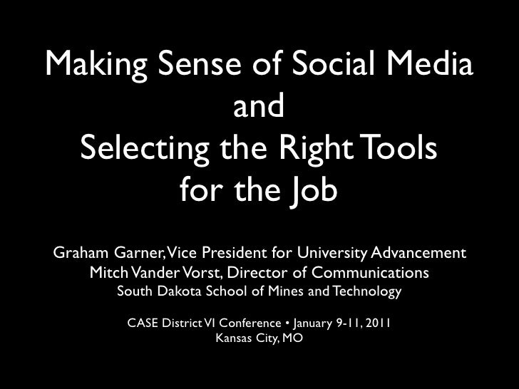 Making Sense of Social Media