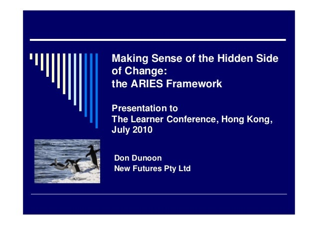 Making Sense of the Hidden Side of Change: the ARIES Framework Presentation to The Learner Conference, Hong Kong, July 201...