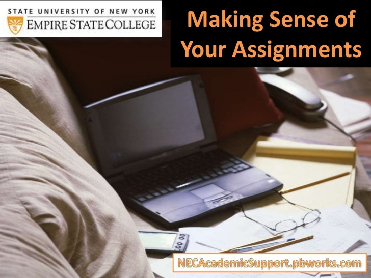 Making Sense ofYour Assignments