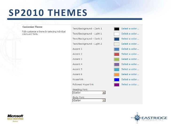 SP2010 Themes<br />