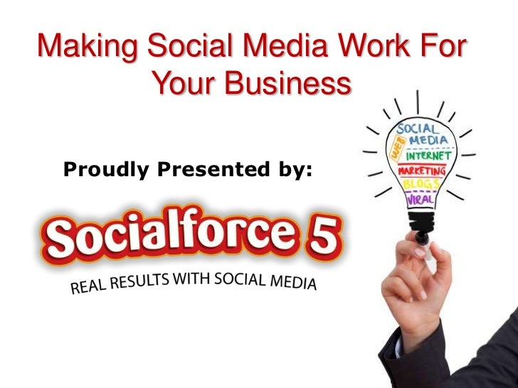 Making Social Media Work For       Your Business Proudly Presented by: