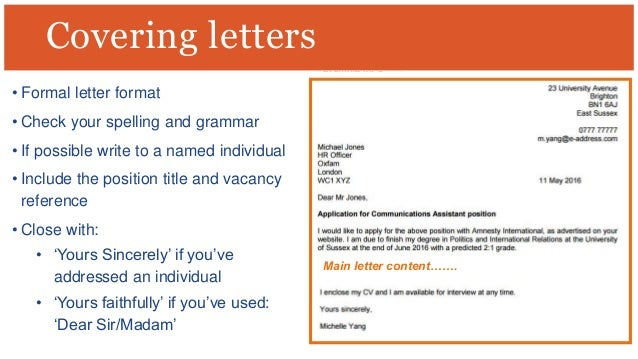 yours faithfully or sincerely in a cover letter - dear sir madam cover letter yours sincerely