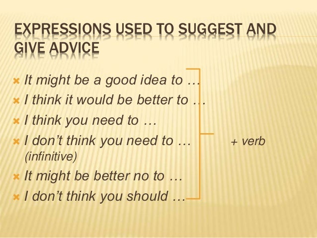 Expressions of Advice Lesson Plan