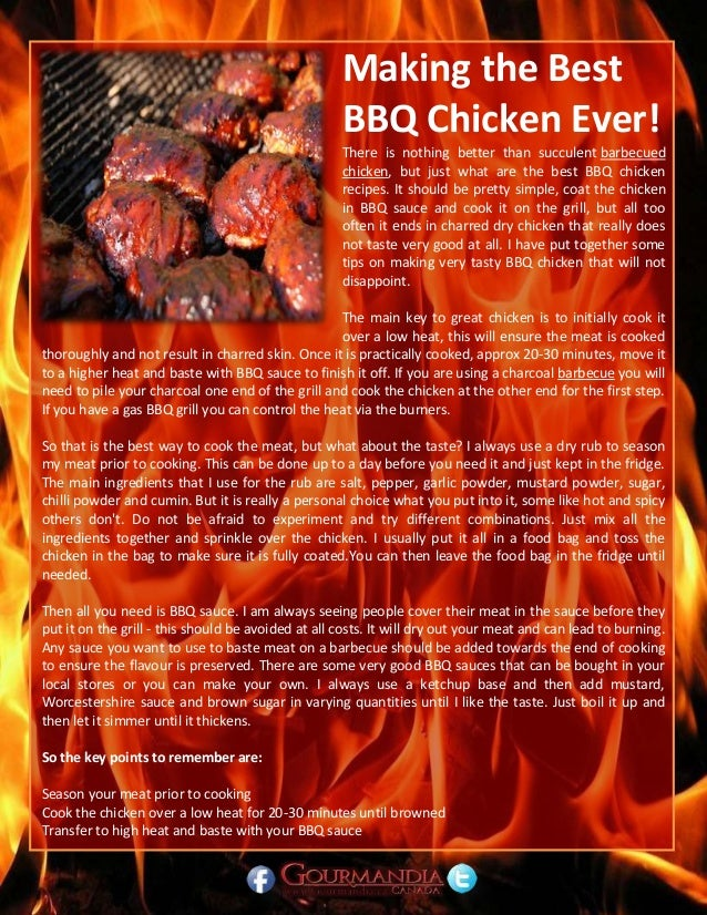 Making the Best BBQ Chicken Ever! There is nothing better than succulent barbecued chicken, but just what are the best BBQ...