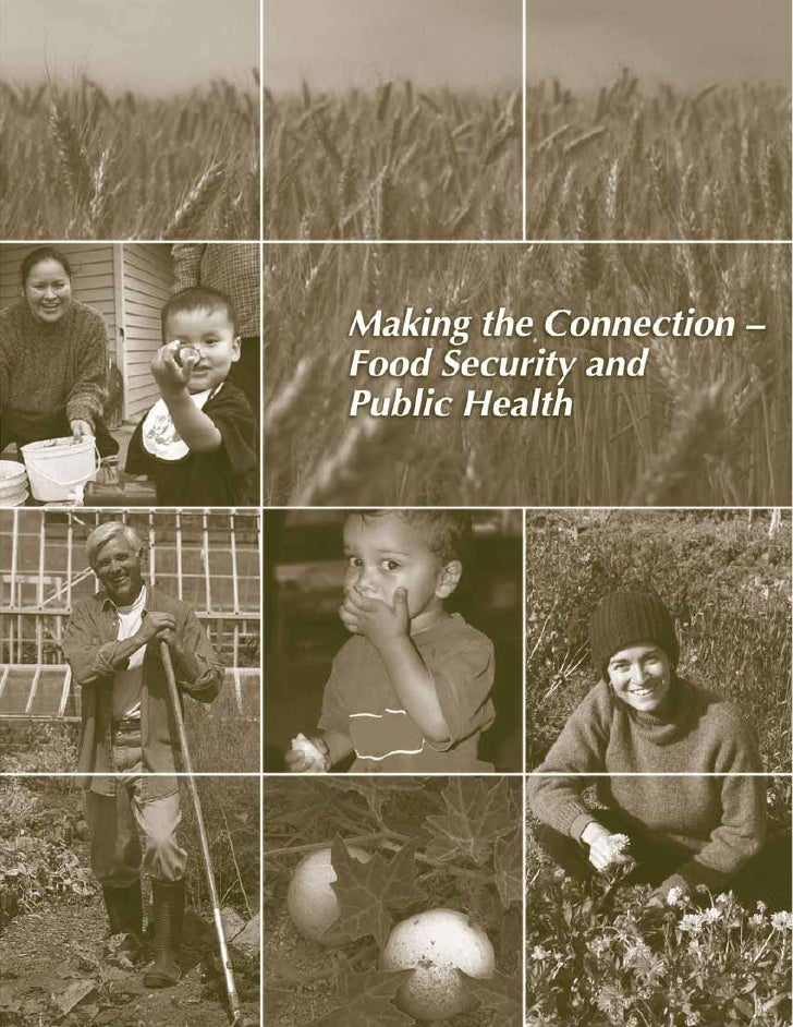 Making the Connection –Food Security and Public Health              Submitted to     The Ministry of Health Services      ...