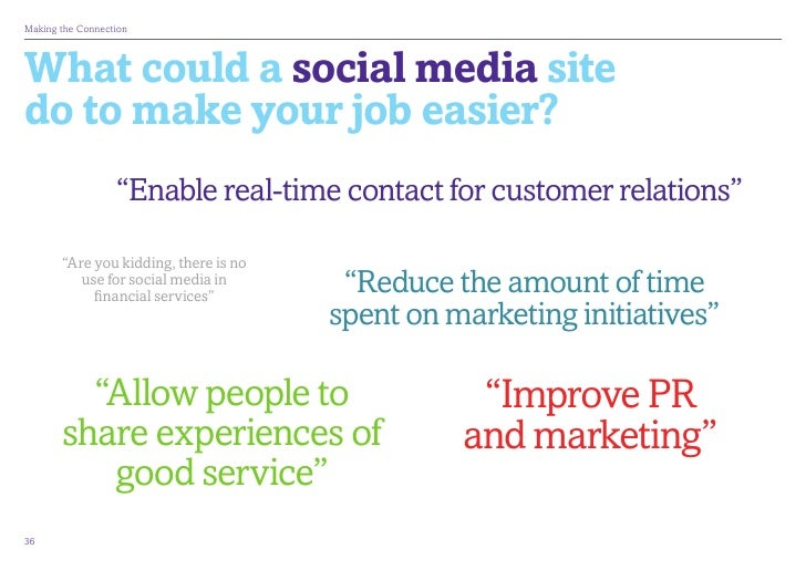 """MakingtheConnectionWhat could a social media sitedo to make your job easier?                  """"Enable real-time contact ..."""